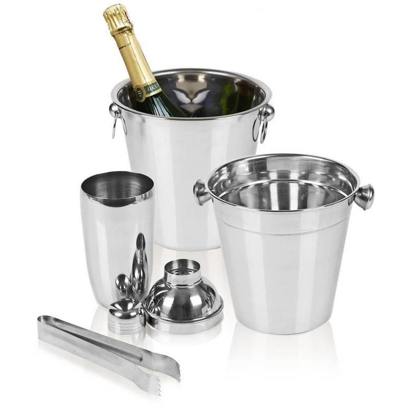 ORION BARTENDER set 2x ice buckets shaker tongs
