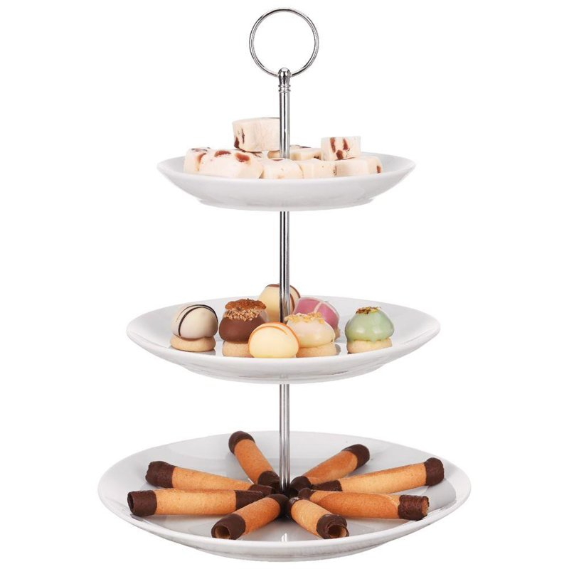 ORION Cake stand 3-level for cookies cake porcelain