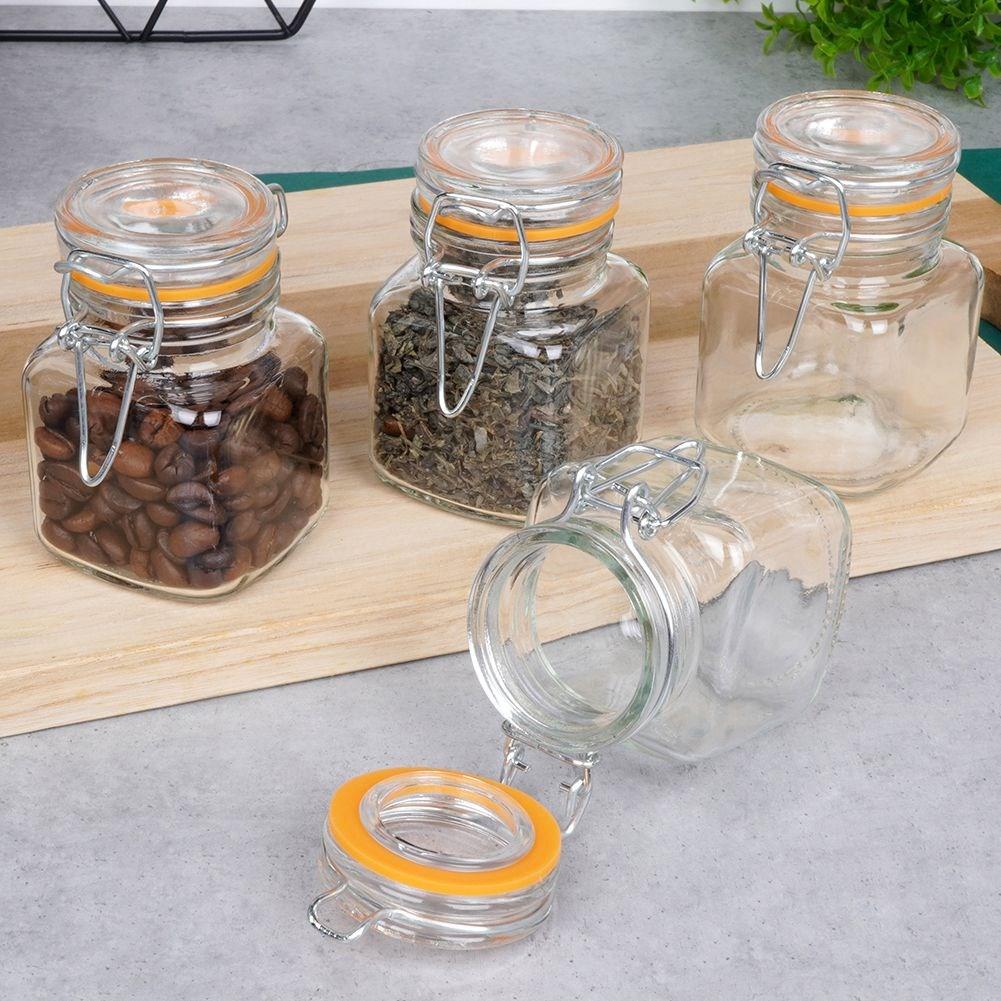 ORION Einmachgläser Glasbehälter mit Bügelverschluss SET 4 Stück 115 ml
