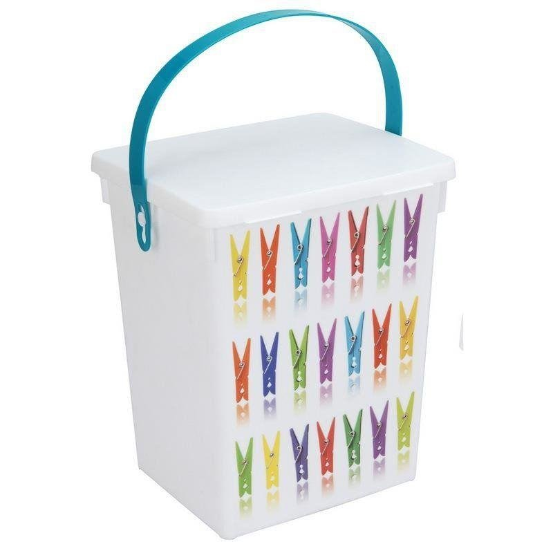 Aufbewahrungsbox für Wäscheklammern Waschpulver Waschkapseln