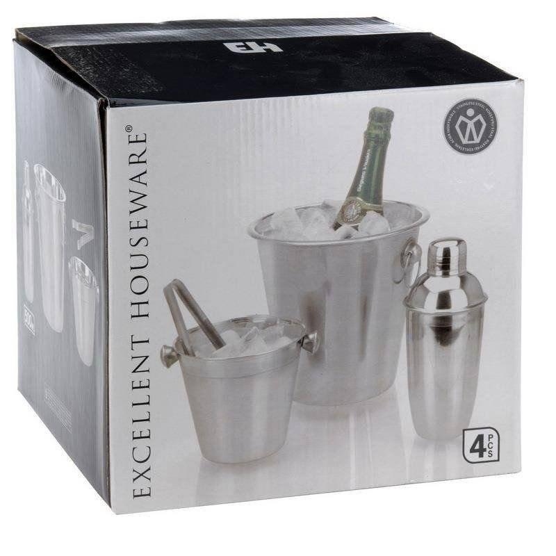 BAR-Set 2x Eiswürfeleimer Shaker Eiszange